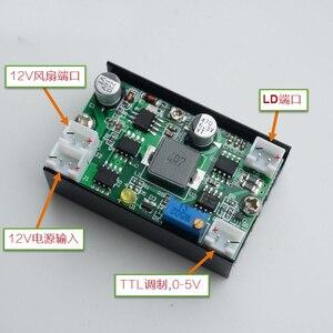 Image 1 - 5A 12 โวลต์ 3.5 4.5 วัตต์ Buck แหล่งจ่ายไฟกระแสไฟคงที่ไดร์เวอร์/เลเซอร์/LED Driver w /TTL พัดลมสำหรับ 405/445/450/520nm