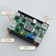 Placa de driver de fonte de alimentação, 5a 12v 3.5 4.5w driver de corrente constante/laser/led w/ventilador de modulação ttl para 405/445/450/520nm