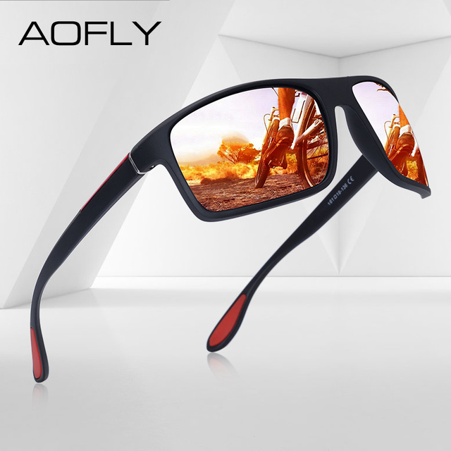AOFLY Fashion Polarized Sunglasses Men Luxury Brand Designer Unisex Driving Sun Glasses Male Goggles Outdoor Sports with Case
