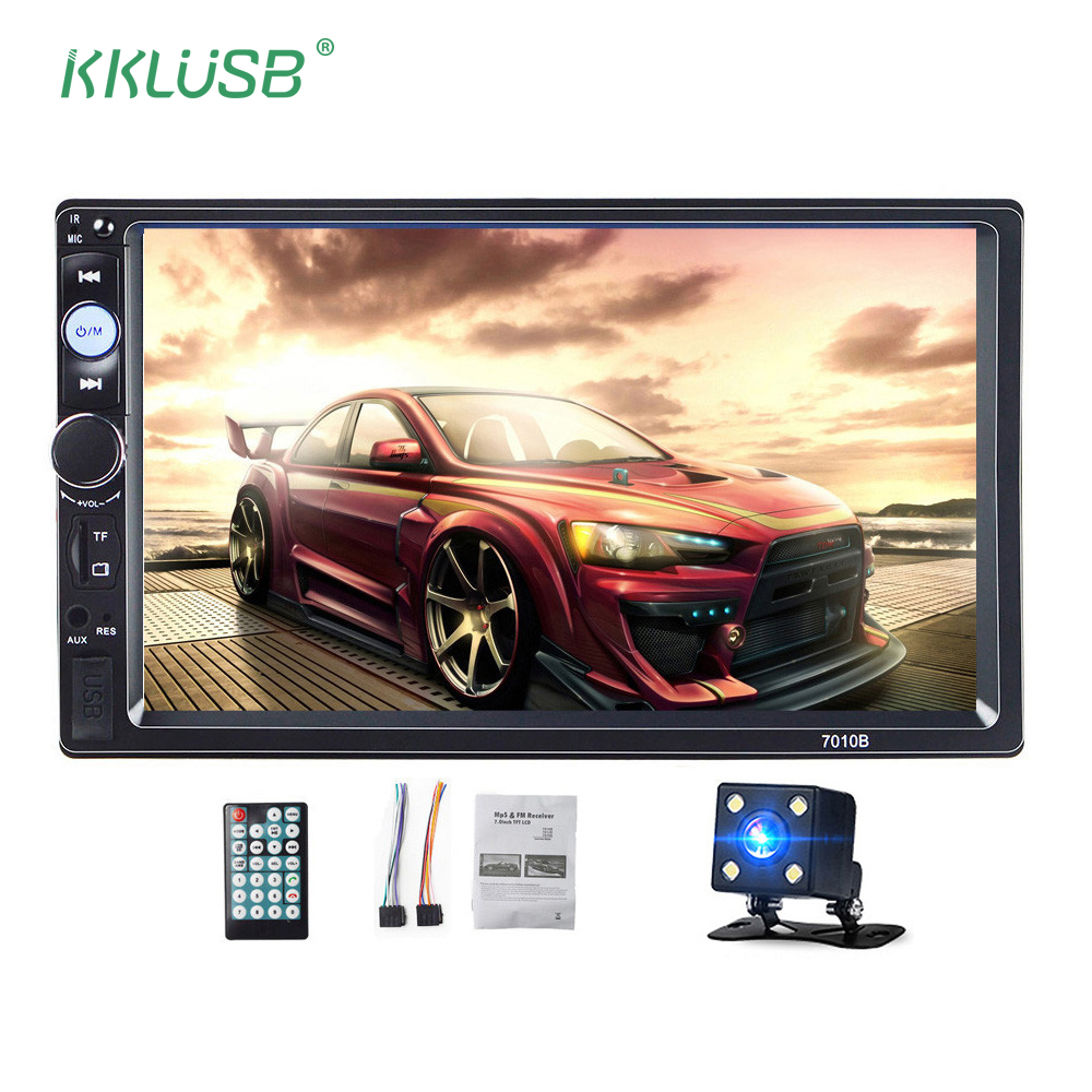 Autoradio 2 Din 7 inch LCD Touch screen car radio player auto audio bluetooth multiple Languages Menu support Rear View Camera