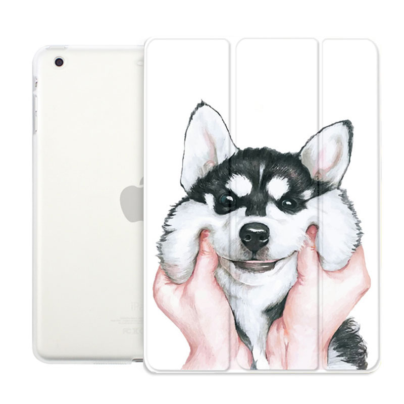 Case for Ipad 9.7 inch 2017 Husky Dog Series Auto Sleep /Wake Up Flip PU Leather Case for New Model A1822 A1823 Smart Cover newest hard shell leather cover case for kobo aura h2o 6 8 inch ebook wake up and sleep screen protector stylus pen