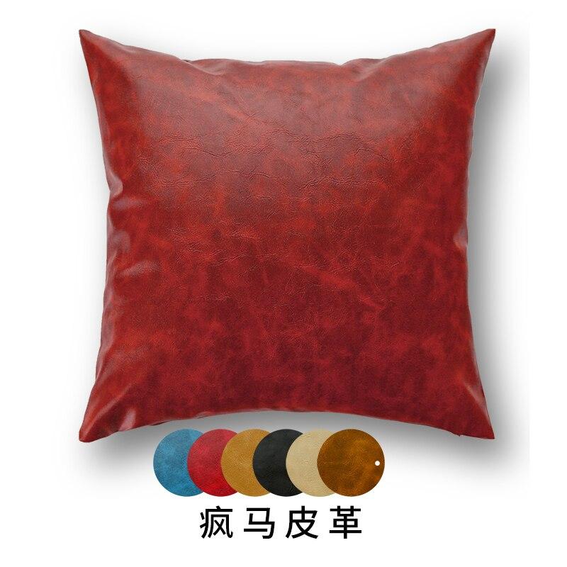 Buffalo like Cushion Leather Sofa Pillow Nordic Style ...