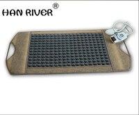 Нефритовое минерал Германий физиотерапия одеяло йога одеяло камень одеяло с электроподогревом одеяло грелки здоровье Горячая Брюшная под