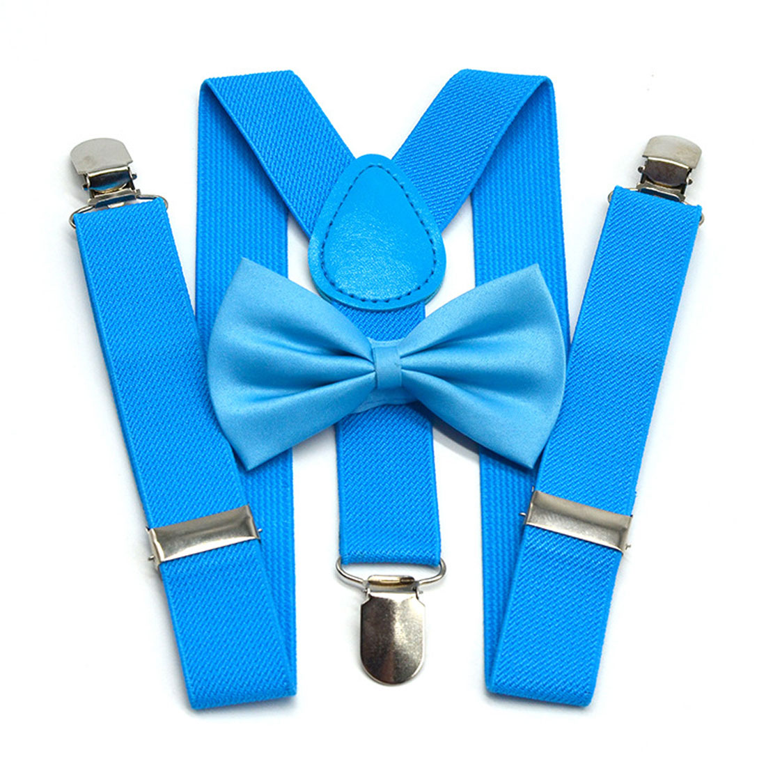 Children Belt Cool  Bow Tie Set Baby Boys Girls Suspenders Clip-on Y-Back Braces Bow Tie Elastic Kids Adjustable