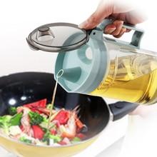 Kitchen Olive Oil Bottle Leadfree Glass Cruet Bottle Vinegar Soy Sauce Anti Leak Bottle Durable Oil Can Fasion Oil Vingar Pourer