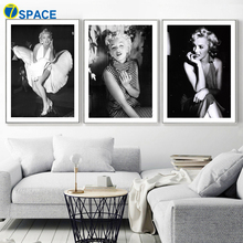 7-Space Cuadros Decoration Classic Marilyn Monroe Figure Canvas Painting Wall Art Print Poster Pictures For Living Room