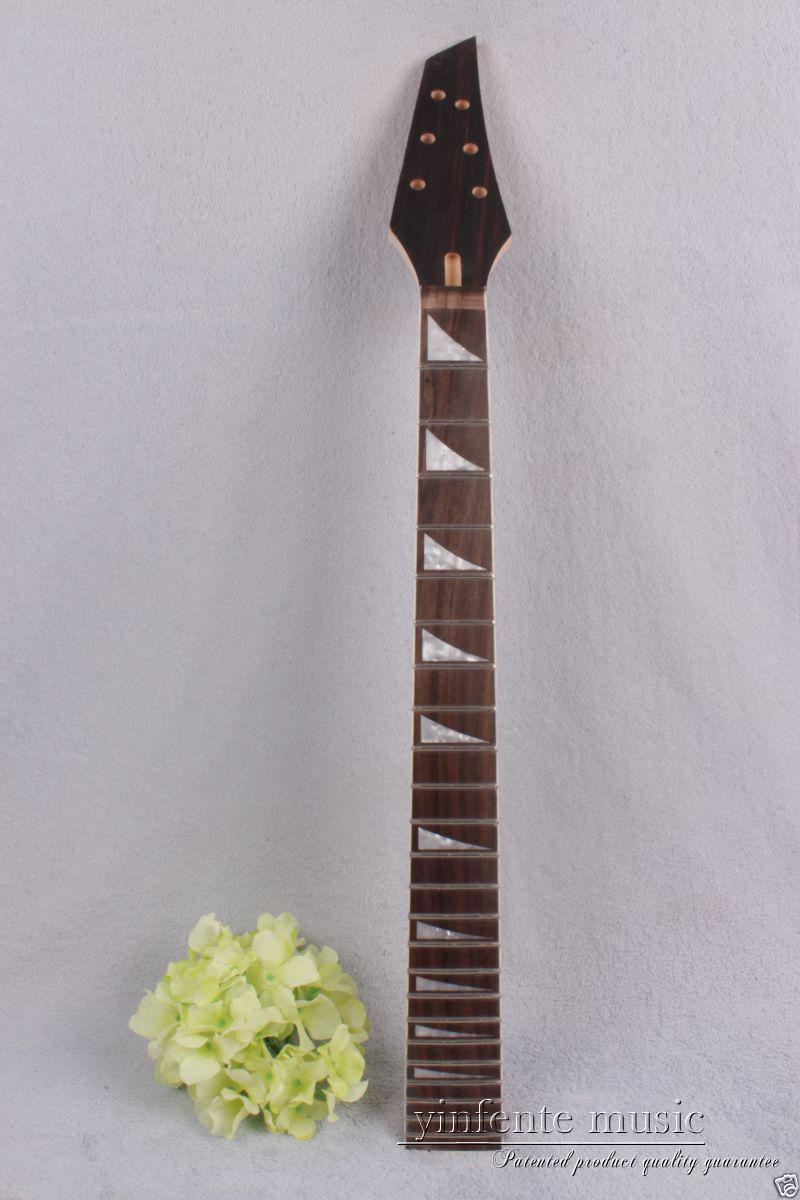 1pcs electric guitar neck maple 24 fret 25.5'' Unfinished rose Paste Paper #759 new electric guitar neck maple 24 fret 25 5 truss rod unfinished no frets nice