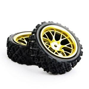 Image 5 - 4 stks/set racing off road banden 12mm hex rubber tyre wheel rim fit voor RC 1:10 voertuig auto truck speelgoed onderdelen accessoires