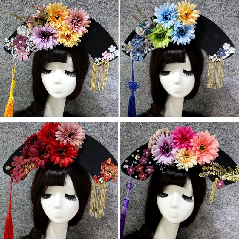 ancient chinese hair accessories for women beautiful princess hair products qing dynasty head wear queen cosplay