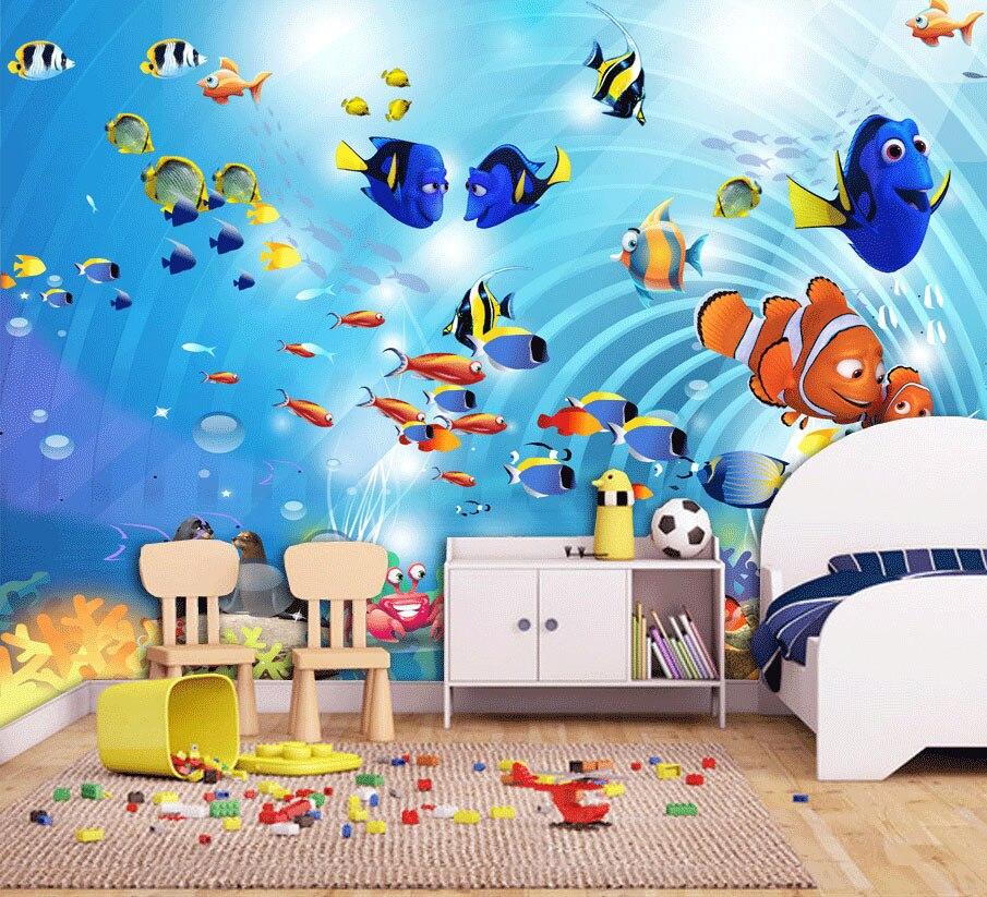 Bacaz 8d Space Sea World 3d Cartoon Wallpaper Mural For