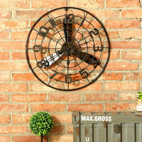 Iron Mute Art Creative Wall Clock Living Room Metal Designer Wall Clocks Silent Relogio Parede Watches Decoration Tools 50A0991