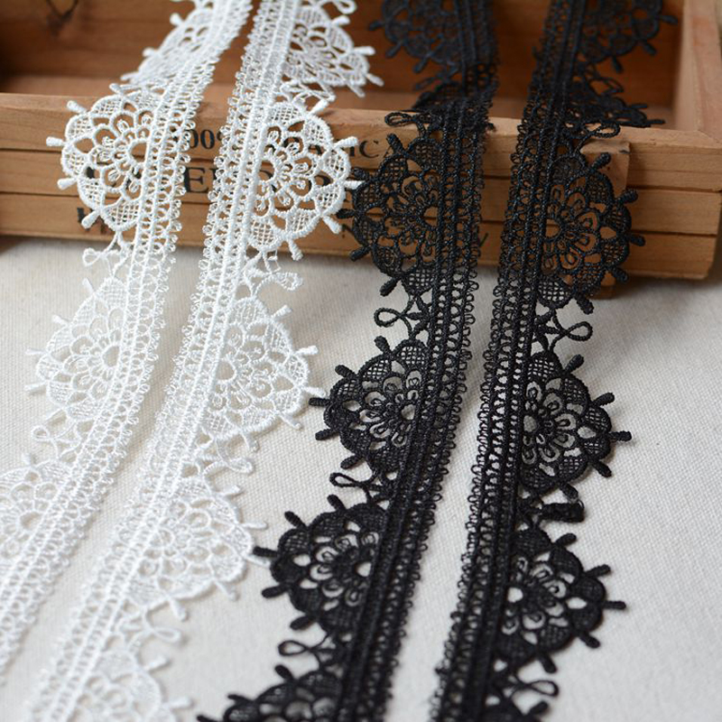 3 Yards/lot Wide 3.5cm water soluble lace DIY household clothing art dress skirt curtain tablecloth sofa decoration accessories