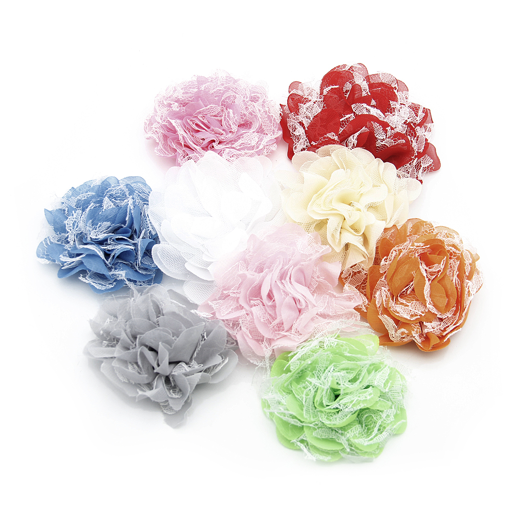 David Accessories 25pcs Flowers For Children Headbands Hair Clips