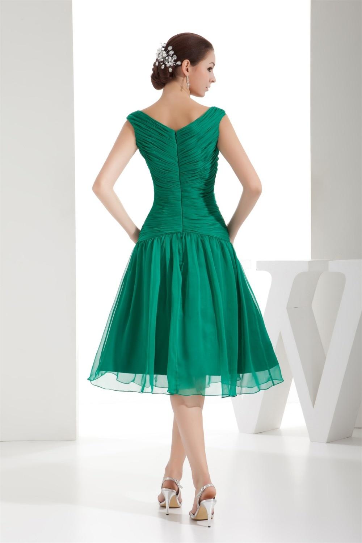 elegant 2016 tea length mother of the bride dresses green