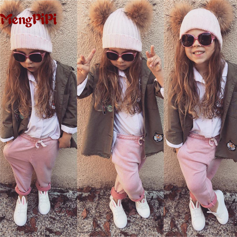Mengpipi Women/Children Cotton Knitted Hats Winter Warm Raccoon Fur Hat Cap gorros de lana touca casquette cappelli bonnets alishebuy winter women men hiphop hats warm knitted beanie baggy crochet cap bonnets femme en laine homme gorros de lana