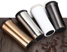 Hohe Qualität 500 ml Doppelwand Aus Edelstahl Kaffeetasse Thermoskanne Tasse Kaffee Tee Bechermilchschale Wasserflasche Thermocup Thermomug