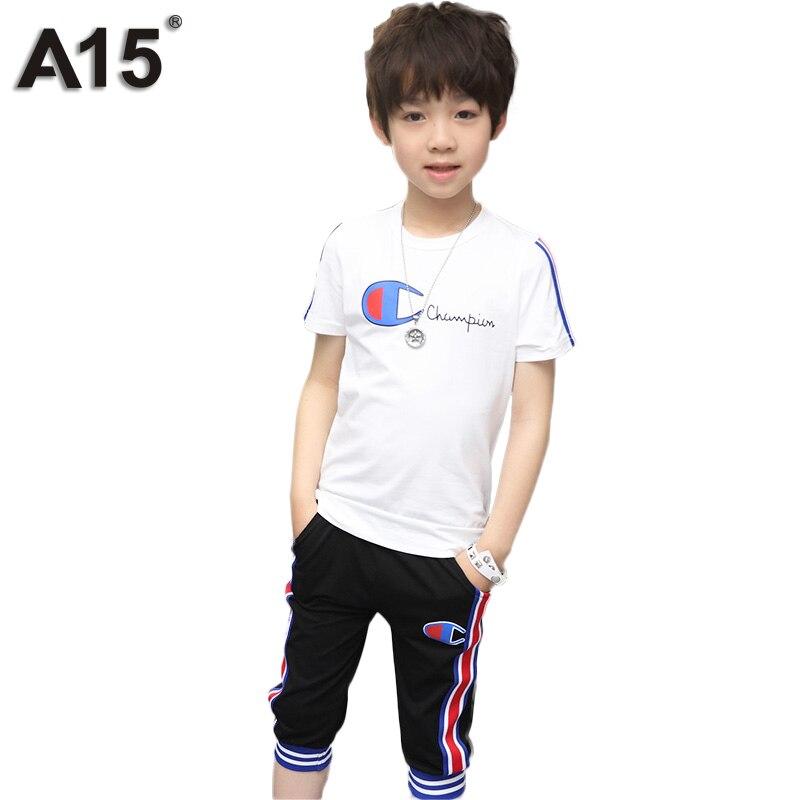 A15 niños marcas de ropa niños ropa conjuntos infantil chicos ropa de verano 201