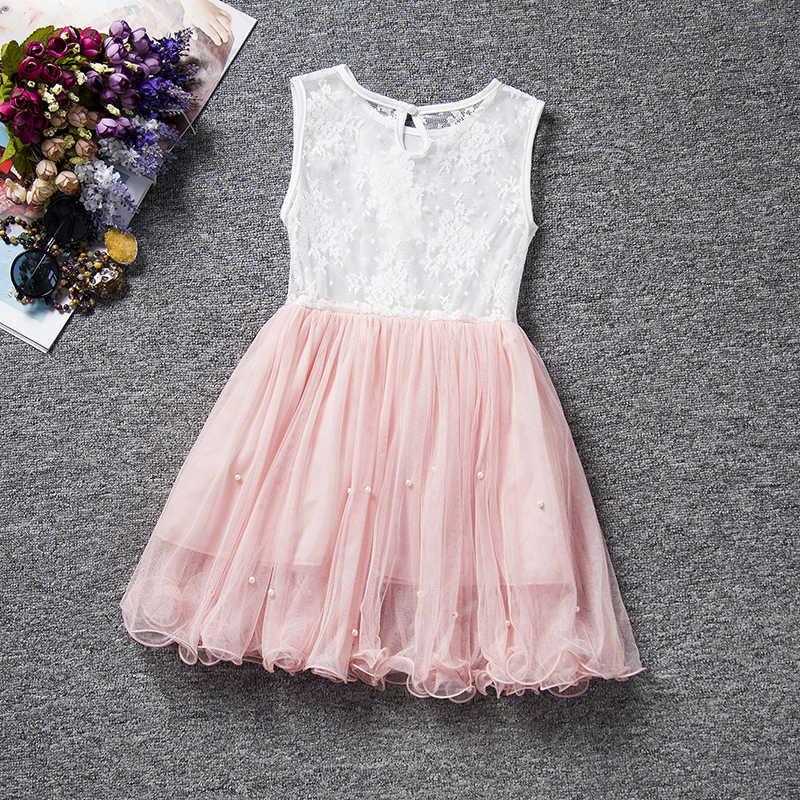 c65b20fb42e6 Summer Baby Party Dress For Girls Lace Flower Wedding Kids Tutu Dresses  Children Princess Party Dresses