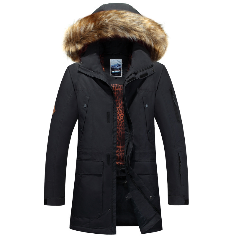 GSOU SNOW New hommes Ski costume coupe-vent imperméable résistant à l'usure veste de Ski en plein air chaud coton vêtements neige vêtements pour hommes