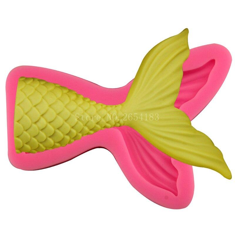 ᐂAnimal forma de cola de pescado Jabones 3D fondant pastel de ...