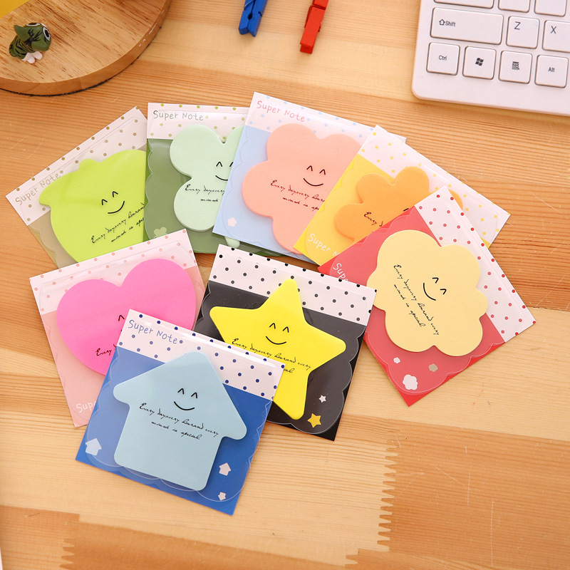 8 pcs Bling star sticky note Color Post note paper sticker it Smile Heart Apple Flower stationery Office School supplies A6460 3 pcs candy colors sticky notes color smile memo pad post it note paper sticker stationery papelaria material school supplies