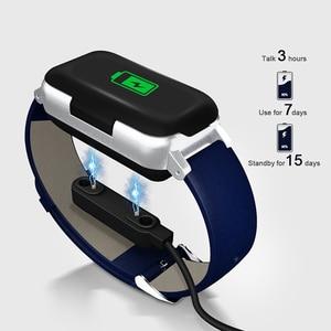 Image 5 - Smart Bracelet LIGE Ladies Wireless Bluetooth Headset Smart Bracelet Mens Fitness Tracker Sphygmomanometer USB dData Cable+ Box