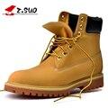 Z. botas dos homens Suo, os novos outono e inverno botas de alta moda do vintage, com a cor pura, rodada, solas tendão 10061