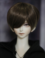 D01 P119 children handmade toy 1/3 1/4 Doll Accessories BJD/SD doll wig Short hair brown coffee color 1pcs