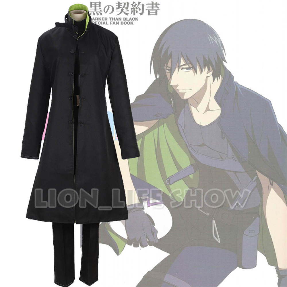 Darker Than Black Hei Li Shenshun Overcoat Trench Coat Cosplay Costume Full Set