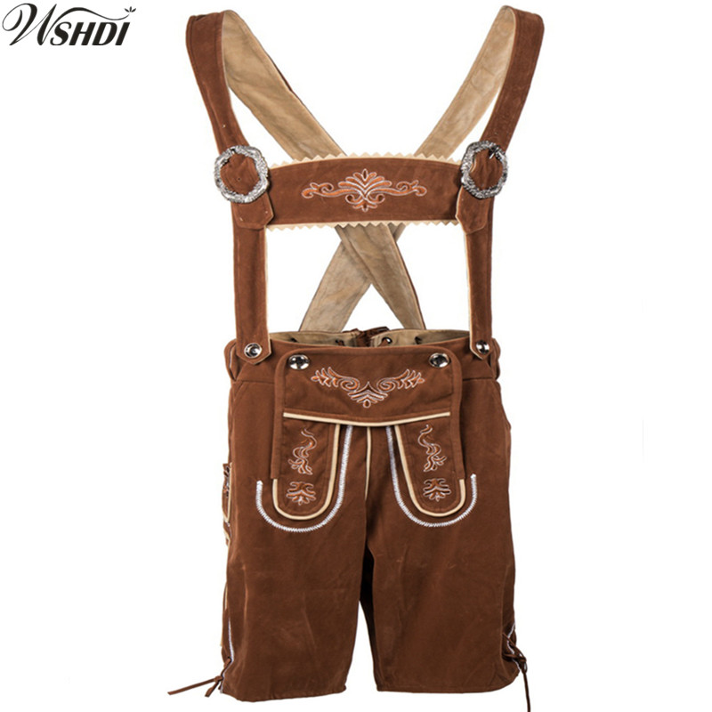 2018 New Oktoberfest Men Costume Lederhosen Bavarian Octoberfest German Festival Beer Costumes Adult Halloween Cospaly Costume