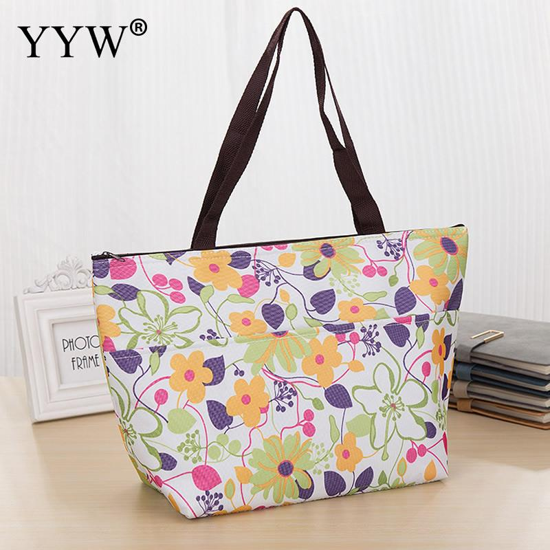 Oxford Heat Preservation Handbag Brand Shopping Bag Travel Handbag Waterproof Tote Floral Beach Foldable Bags Different Designs