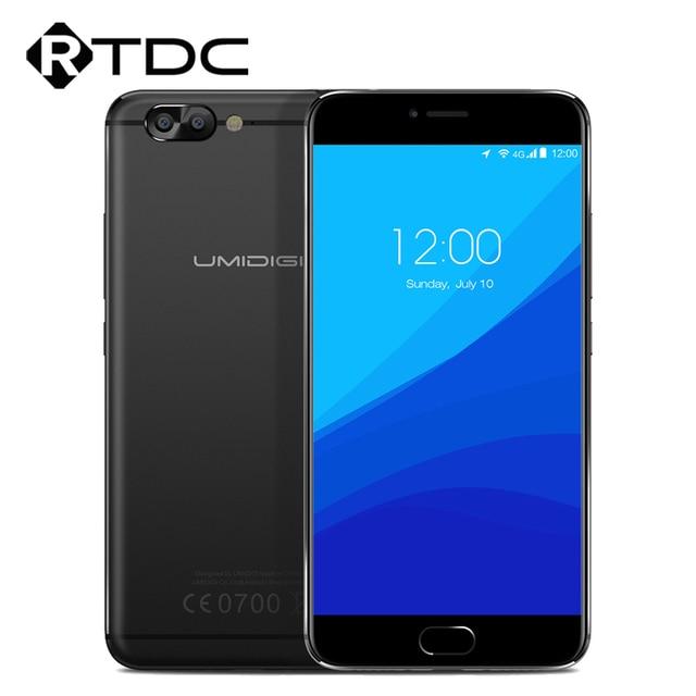 Original Umidigi Z Pro 4G LTE Mobile Pone MTK Helio X27 Deca Core 5.5''FHD Android 6.0 4GB RAM 32GB ROM 1920x1080 Dual Camera