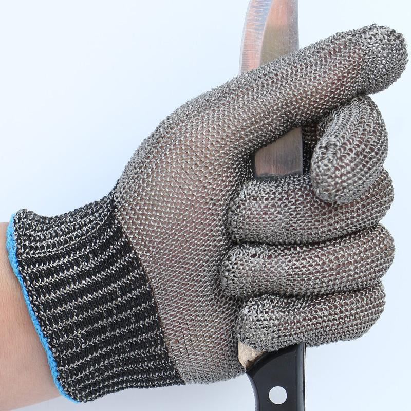 New 1 Pcs Cut Resistant 100% Stainless Steel Gloves Working Safety Gloves Metal Mesh Anti Cutting For Butcher Worker