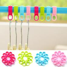 10pcs Multi-function Clip Windproof Buckle Plastic Clothes Hanger Underwear Socks Drying Rack
