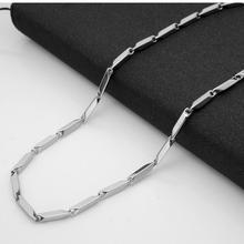 316 из нержавеющей стали квадратное жемчужное ожерелье из титанистой стали Ювелирная цепь 3 мм Толстая цепь diy аксессуары