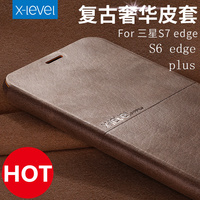 High Quality Thin Flip Phone Case For Samsung Galaxy S6 Edge Plus S7 Edge Stand Leather