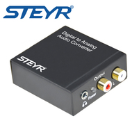 Digital Optical Coaxial To Analog RCA Audio Converter With Or Without 3 5 Mm Jack