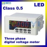 Three phase led voltage meter HY 3AV series ac dc digital voltimetro Class 0.5 voltimetro digital
