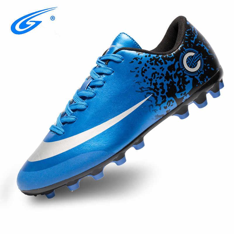 2a4d96358bd ... ZHENZU Professional Cheap Football Shoes Kids Men krampon futbol  orjinal Outdoor Football Boots Soccer Cleats Sneakers ...