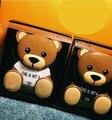 Мода Мобильного powerbank Тедди 4800 мАч Мини power bank Светящиеся глаза Два выходных порта с подвесной провода подарки на день рождения