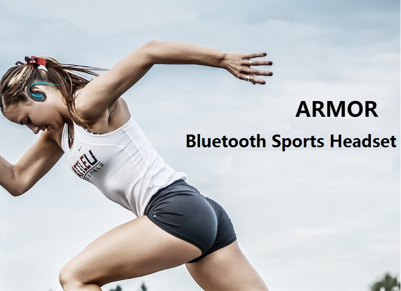 Armor Waterproof Sports Headset Wireless Bluetooth V4.1 Earphone Ear-hook Running Headphone with Mic Music Playing