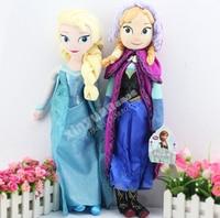 Disney Brinquedos 50 Cm Dolls Congelado Elsa Anna Princesa Brinquedos Para Gilrs Brinquedo do Miúdo Barato Juguetes Brinquedos Infantis Ty029