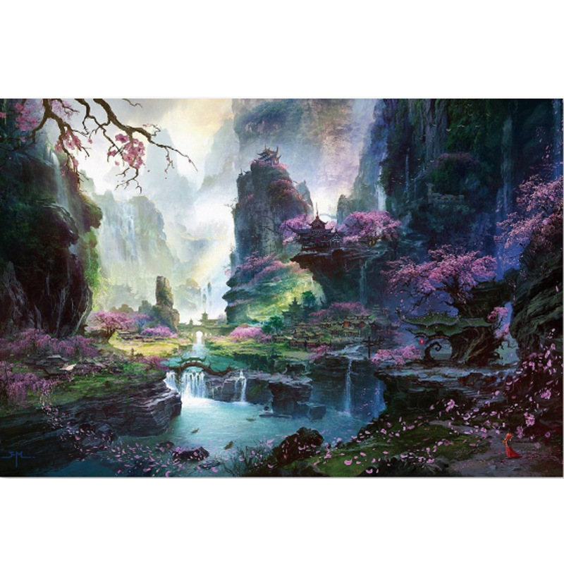 Adults 1000 pieces Beautiful World Jigsaw Puzzle New Arrival Puzzle 1000 Piece Wooden Paper Educational Toy Christmas Gift in Puzzles from Toys Hobbies