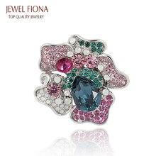 Fiona joya Broche de La Boda para Las Mujeres Multicolor Moda Rhinestone y Broche de Cristal de Regalo de La Joyería