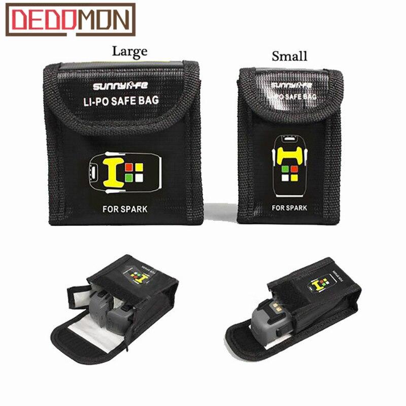 For DJI SPARK Drone Lipo Battery Case Explosion-proof Safe Storage Bag Fireproof Protective Box Heat Resistance Radiation Pocket