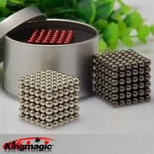 Супер магнитные блоки 3 мм 4 мм 5 мм магнитные шарики Ndfeb сильные магниты Нео Куб Забавные игрушки Упаковка в металлической коробке