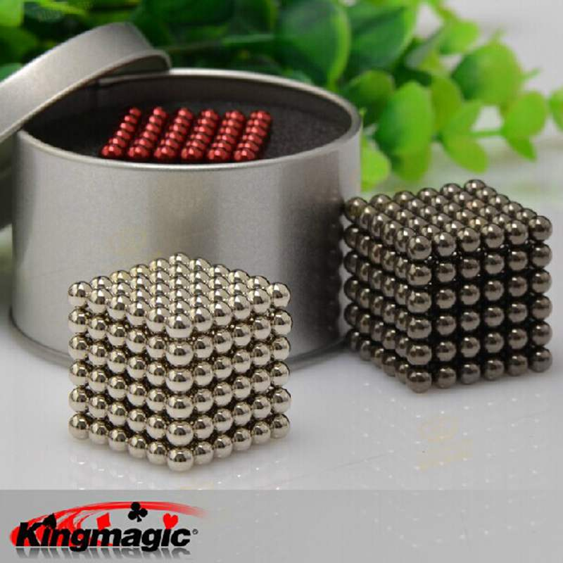 Super Magnet Blocks 3mm 4mm 5mm Magic Balls Bucky Neo Cube Funny Toys Metal Box Package