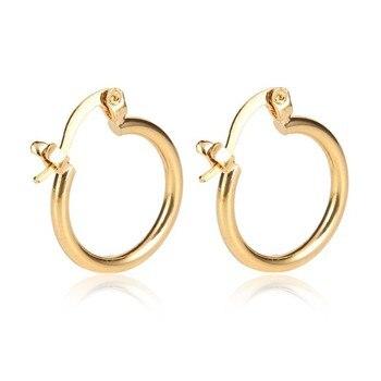 14 ك الصلبة الذهب إنهاء القرط أزياء نموذج جديد حلق مجوهرات ذهبية الذهب 1