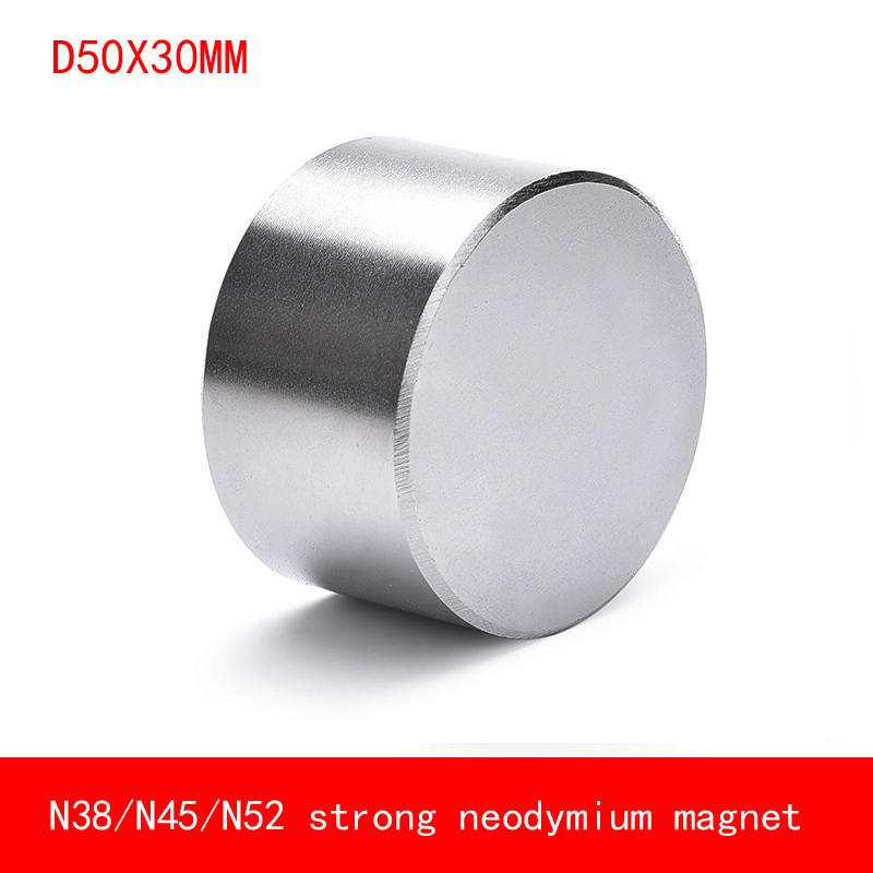 Magnet 1pcs/lot <font><b>N52</b></font> Dia <font><b>50x30</b></font> mm hot round magnet Strong magnets Rare Earth Neodymium Magnet 50x30mm wholesale 50*30 mm image