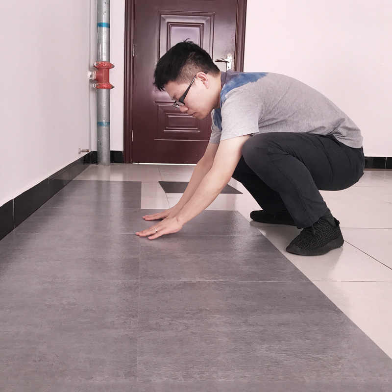 beibehang Pvc floor sticker self-adhesive household waterproof floor rubber thick wear-resistant stone plastic living room floor